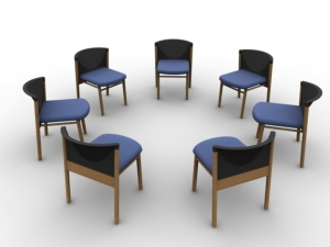 chairs in smaller circle